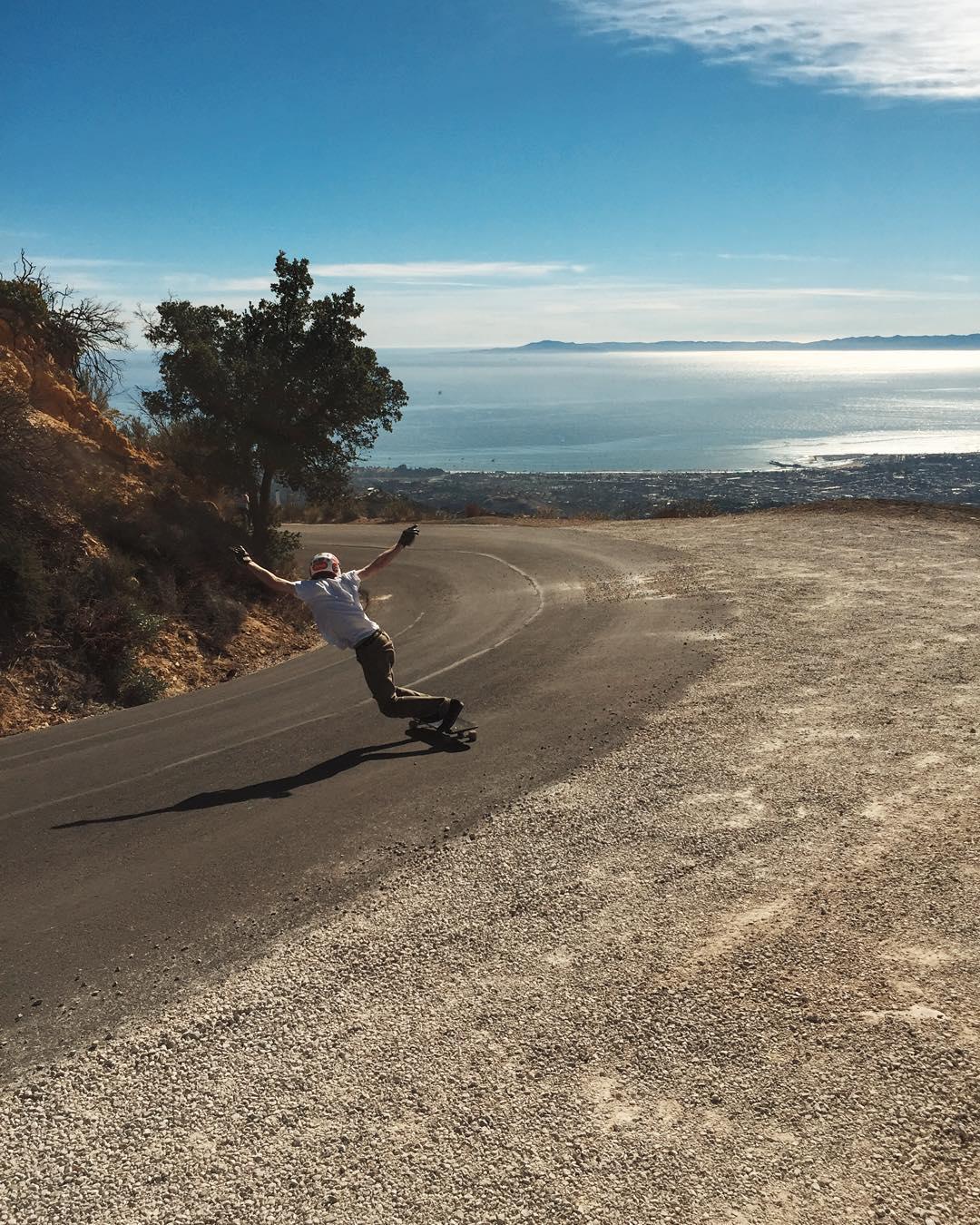 @davebfromsb with a clean backside over Santa Barbara. #caliberprecision photo - @liam_lbdr_
