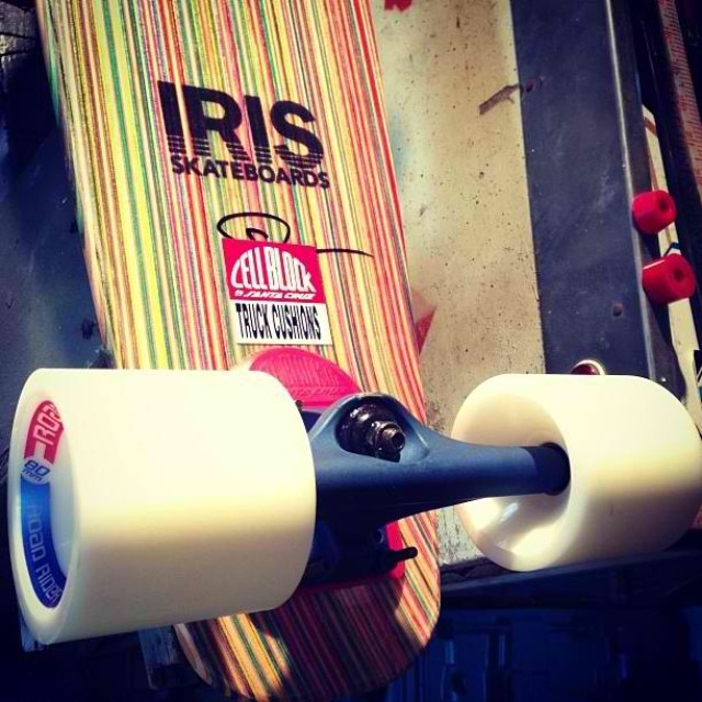 @zarosh is gearing up for what they call getting down...alright brothers? #irisskateboards #recycledskateboards
