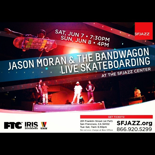 Jazz and Skateboarding live! Sponsored by Iris Skateboards and @ftcsf  #irisskateboards #recycledskateboards #ftcsf