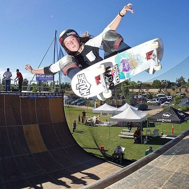 @nicolehause floating a big frontside ollie at #exposure2015 . Photo by @sparagram