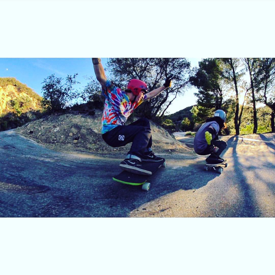 @f_cooper_d and @byronessert in their party pants, video out this week.... @daveshippyoil #thesewheels #powellperalta #aeratrucks #sucroseinitiative #valhallaskateboards #gform #midslid #crashpants #pushcultureapparel