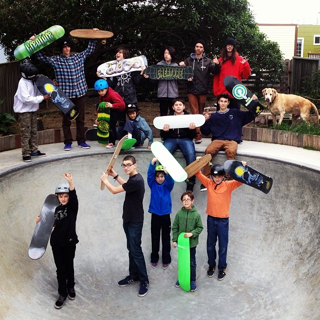 SF Skate Club came to Iris HQ for a visit. The future of skateboarding looks bright! @connolly415 #irisskateboards #recycledskateboards #sfskateclub