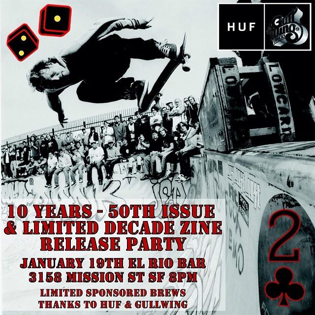 Mandatory attendance! Come celebrate 10 years of blowing it! @lowcardmag