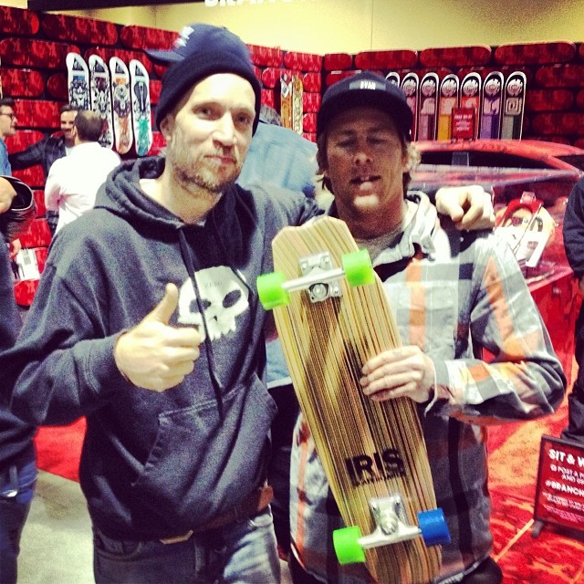 @jamiethomas and @donnybarley stoked on the Iris Hammerhead. So much respect and appreciate for these guys! #legends #irisskateboards #recycledskateboards #welcometohell #zeroskateboards #elementskateboards