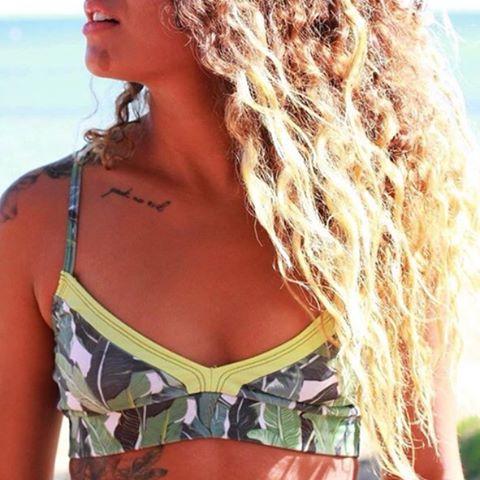 Unique beauty Bananos & Lime Print #katwai #swimwear