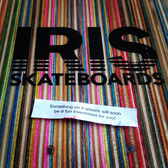 Fortune cookies don't lie! Go to irisskateboards.com to get your new skateboard today! #irisskateboards #recycledskateboards