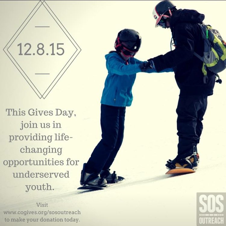 Happy #cogivesday! For the next 12 hours, every donation to SOS Outreach will be increased through a $1M incentive fund. Visit www.cogives.org/sosoutreach to make your donation now!