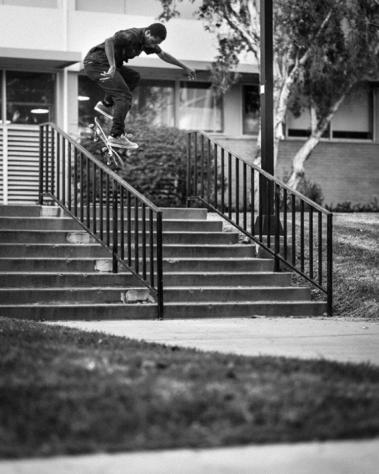 nailing it behind the lens #elementadvocate @frenchfred captures @domowaka casually flipping into a backside nosegrind >>> #elementams #frenchfredfoto