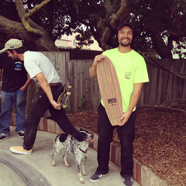 Billy and his new Swisher. @evergreenskateparks #irisHQ #recycledskateboards #noot  #irisskateboards