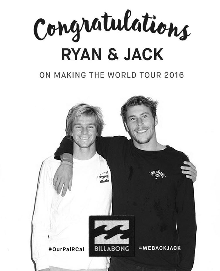 A massive congrats to @ryancallinan and @jackfreestone on making the tour for 2016! #WeBackJack #OurPalRCal