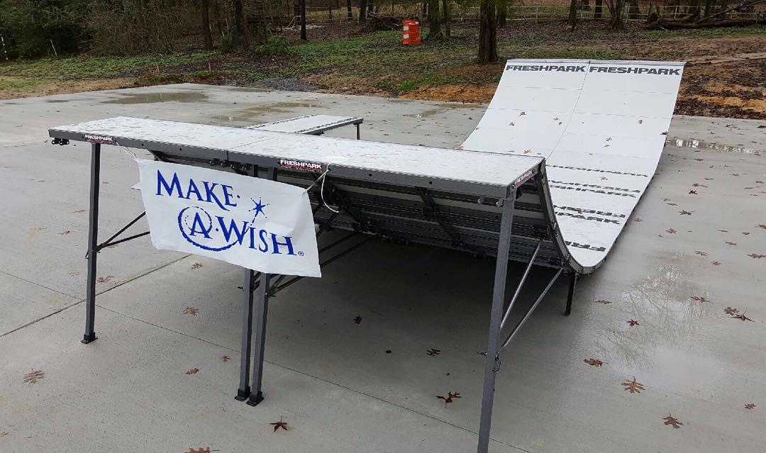 Make-A-Wish Foundation #freshpark #halfpipe