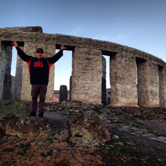 Sending it into the weekend at the #WashingtonStoneHenge . #GetOutside and get weird. @JimSmail @m_estes