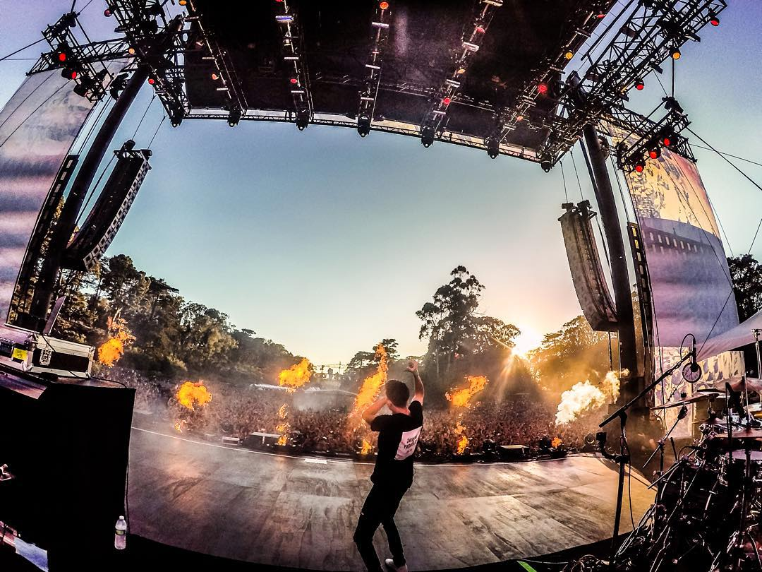 @G_Eazy is on fire! Listen to his new album When It's Dark Out by following the link in his profile and watch the GoPro video from this performance at gopro.com/channel. Photo & video by @mishavladimirskiy.  #WhenItsDarkOut #GoProMusic #OutsideLands