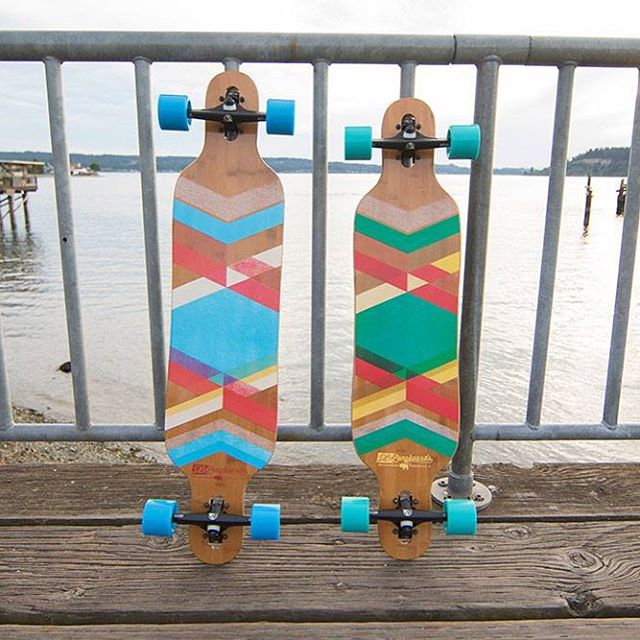"The Pioneer 38"" and 40"" drop through cruisers waiting for the next session. #dblongboards #longboard #longboarding #pioneer"