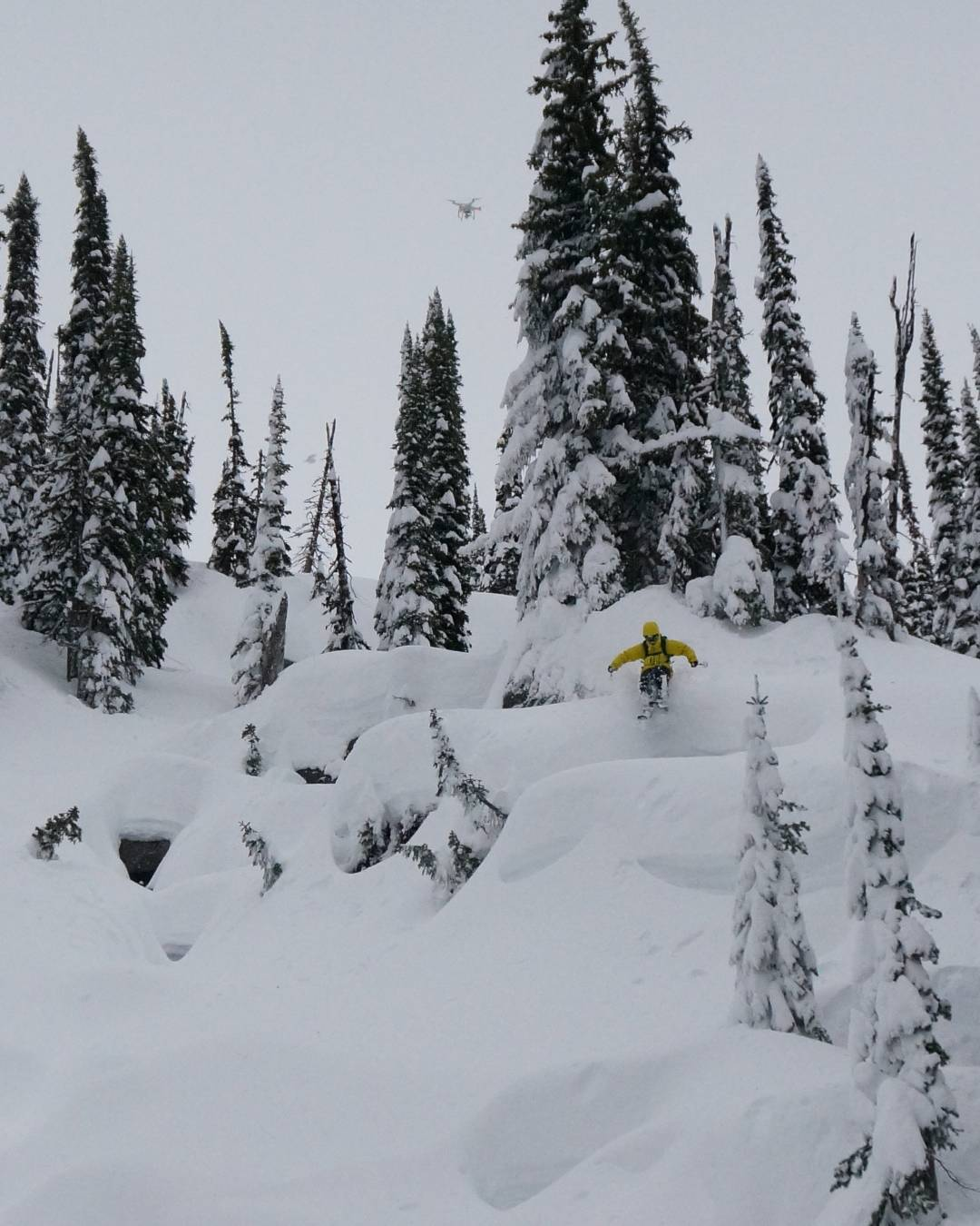 DPS pro-team rider @pierssolomon zipping through the pillows @solmountainlodge. Photo: @ermepowskier. #DPSCinematic #backcountry #skiing
