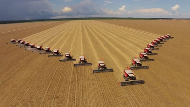This year's bumper yield was harvested in record time by the tractor team.  Credit: Kevin Haboski with a #DJI #Phantom2VisionPlus  Join the #SkyPixel contest today. Win prizes like the #Zeiss #VROne, @lowepro_official and much more!...