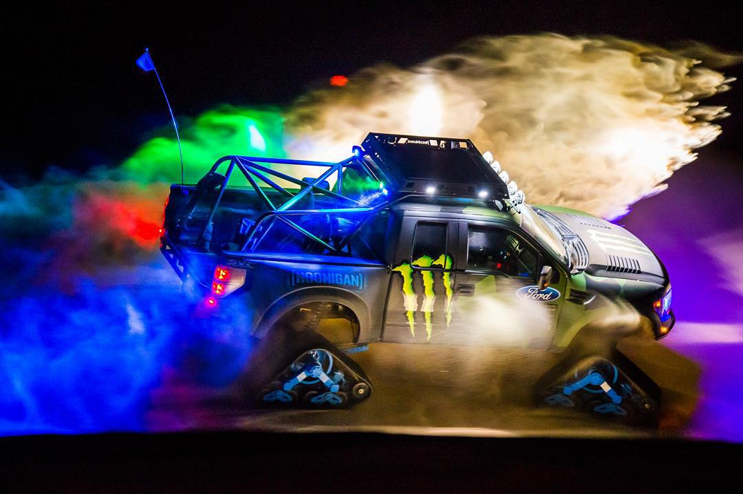 Ok, I couldn't wait 'till tomorrow to give the RaptorTRAX a proper sand shakedown. So here's a little gem from tonight's test runs, shot by @roncar. #Doonies2 @monsterenergy #nightmoves