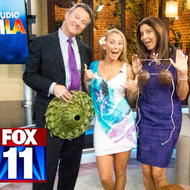 You know you must be spreading the ALOHA when you get Fox news anchors wearing coconut bras and hats!;-) Thank you for the fun interview and supporting Alison's Adventures!