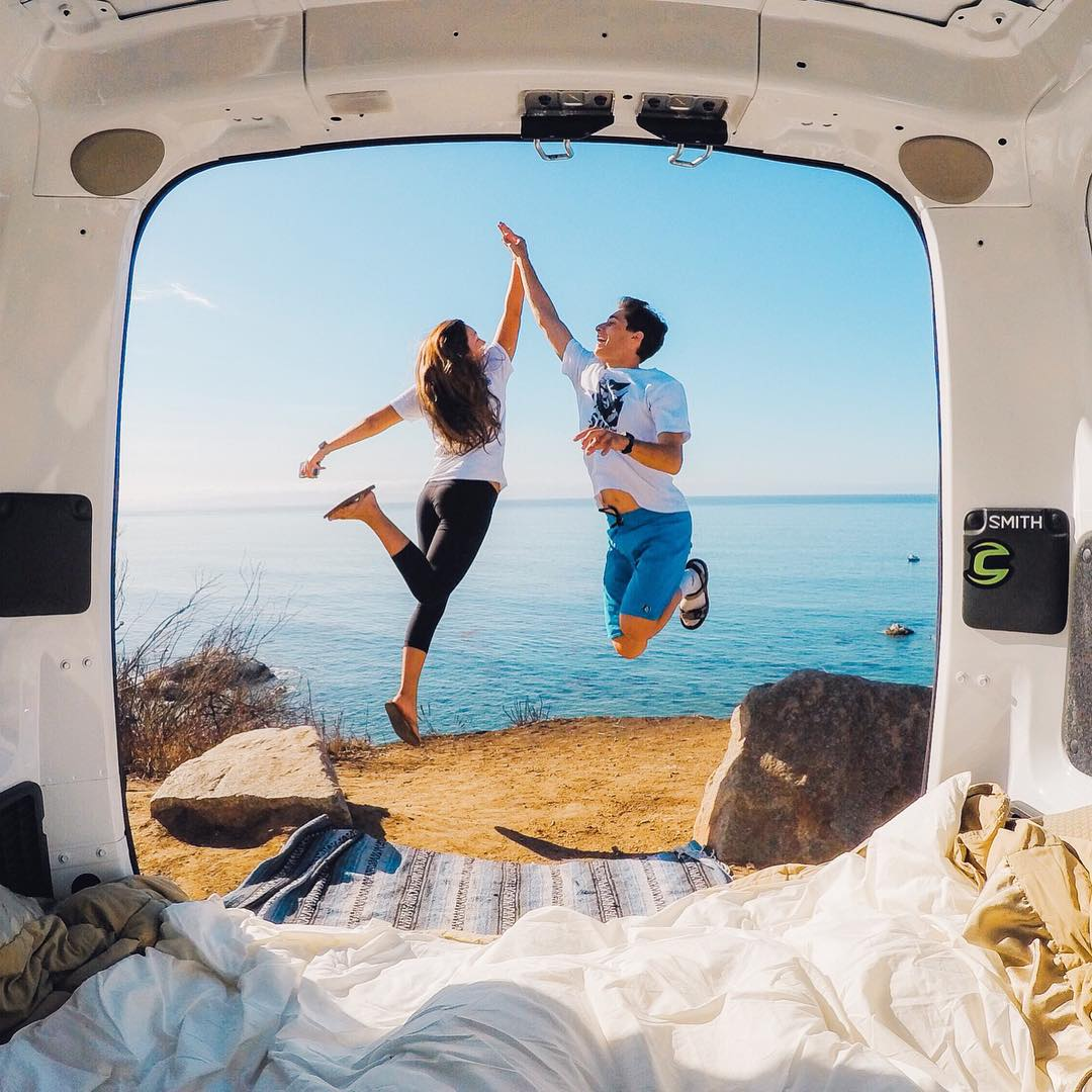 Road trip buds @alinahudson + @Codyjutovsky packed up their gear and found themselves adventuring through #JoshuaTree National Park. Goin' on a #roadtrip? Share with us via our link in profile. #GoProTravel #Adventure #WanderlustWednesday #Hi5