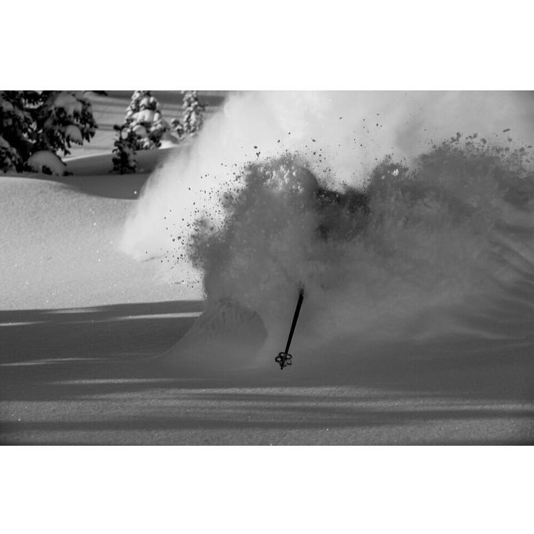 Oh, so deep!!! Skier: @aengerbretson PC: @acpictures  #whiteroomwedsnesday | #embracethestorm | #flylowgear