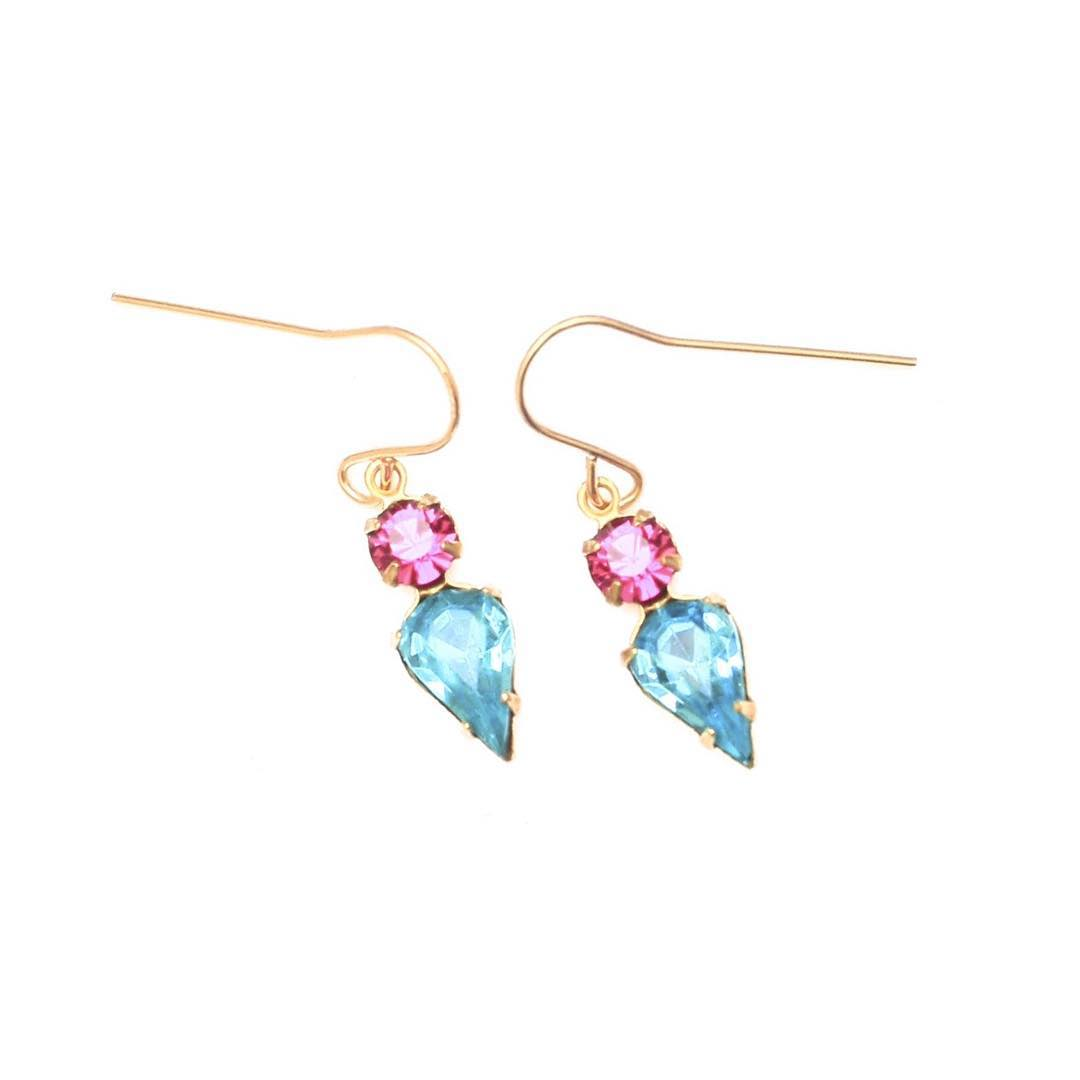 Islamorada Earrings. Coastal Earrings Collection c. 2014 Vintage Glass from the 1950's set onto 14k gold.  Truly Darling in every vibrant color.  #thatsdarling #darling #juliaszendrei @nastygal @darling #islamorada #coastalscents  Check out the entire...