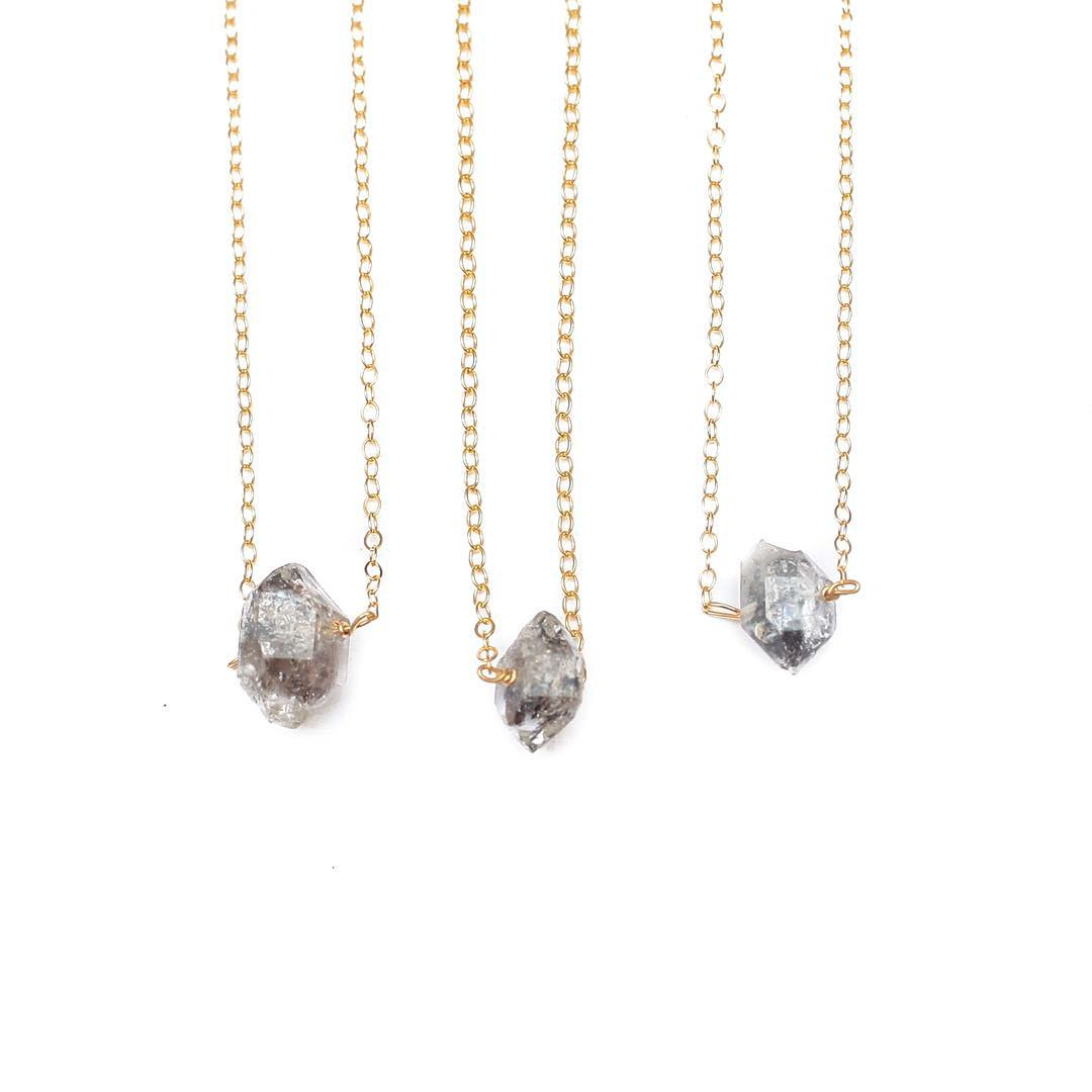 Herkimer Diamond Necklace.  Available online @huckberry this Holiday!
