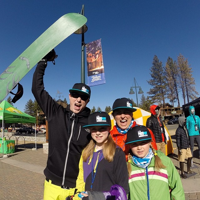 The Dalzel family is fired up for @thenorthface Park + Pipe Open Series pres. by @nissan at @skiheavenly today! Catch the finals at the Ante Up Terrain Park this afternoon | @mountainsportsintl @usfreeskiing @mrdavidwise @unclee1969 @aengerbretson...