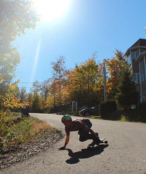 @podesmarais likes it with 3 wheels on the ground.  Photo by @samuel.dav #restlessboards #restlessnkd