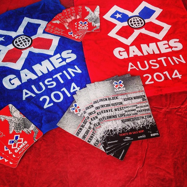 You at #sxsw? Closing out the event by giving away this limited edition #xgamesaustin swag all day. Stop by the XG set up at Congress & Barton Springs.