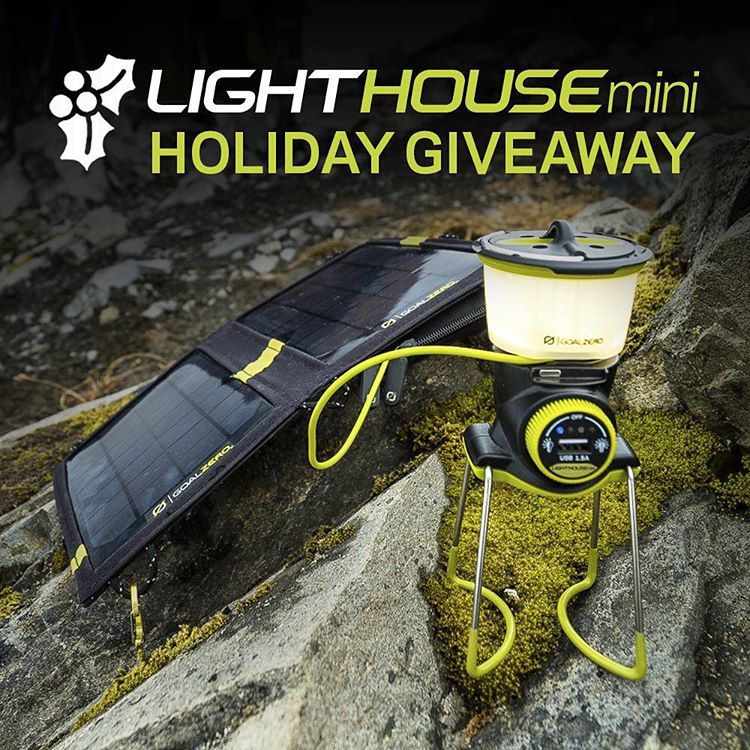 For the next 10 days we're giving away our new Lighthouse Mini and a Nomad 7 solar panel! We'll announce the winners on the giveaway page each day so make sure you check back and sign up every day for your chance to win. Follow the link in our profile...
