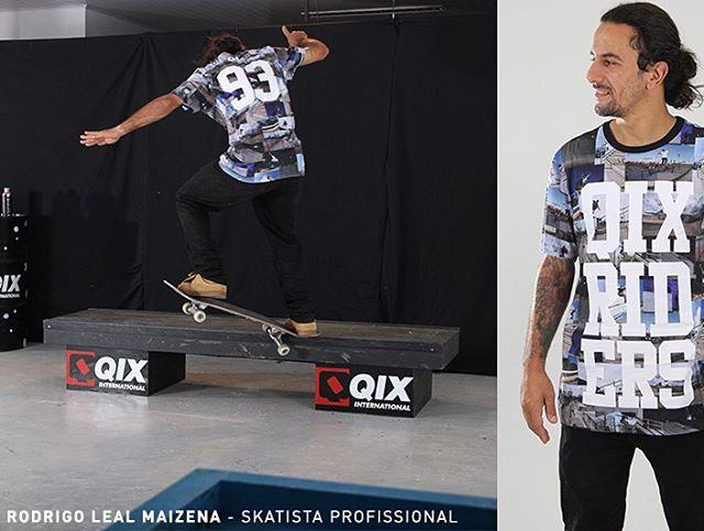 Camiseta Print Riders - Verão 2016. Disponível nas lojas de todo o Brasil e em nossa loja virtual. @rodrigoleal #QixTeam #skateboardminhavida