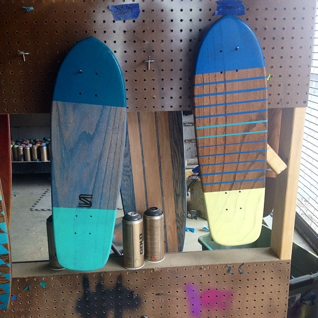 Some old school surf inspired boards comin right up