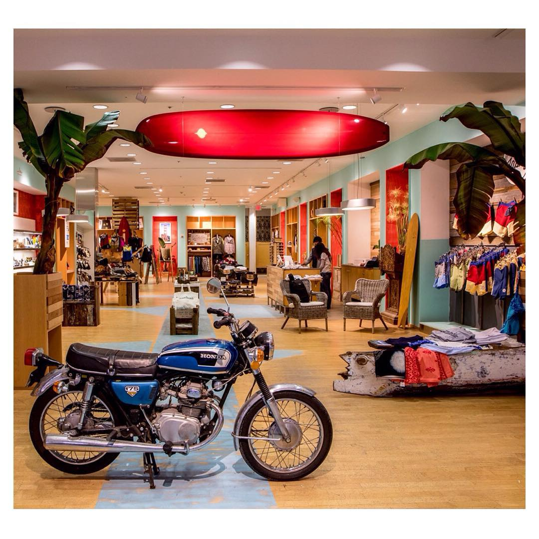 You'd never guess that this used to be an old GUESS outlet! The space at Stonestown Galleria has been transformed for the holiday season into the Ocean Beach Outpost, a collaboration between Kyle Parsons of Indosole & Hans Geiszler of @japhysurfco. The...