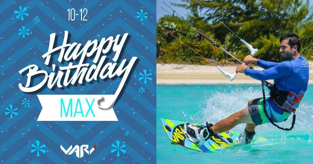Happy Birthday @max_montaldo!! #happybirthday #rider #variteam #varifamily #kite #kitesurf #kiteboarding #varikites