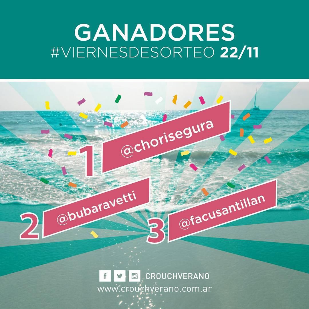 ¡Felicitamos a los GANADORES del último #ViernesDeSORTEO!