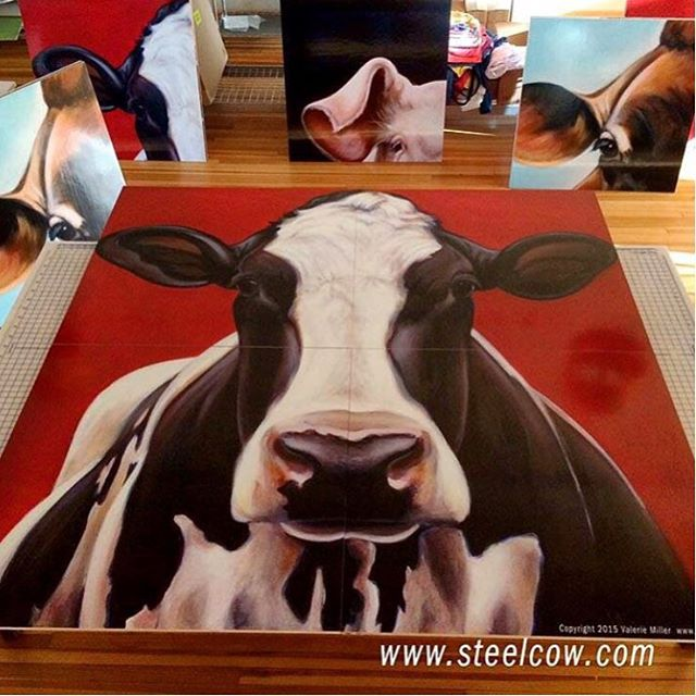 Discover unique gifts from the @_steelcow by artist, Valerie Miller. Here is one of our barnyard favorites, Maddie! Check out these prints and more products that #giveback in our #2015giftguide. Link in Bio.