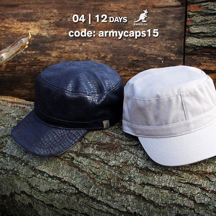 Day 4 Savings: 15% off #kangol Army Caps at kangolstore.com with the code: armycaps15