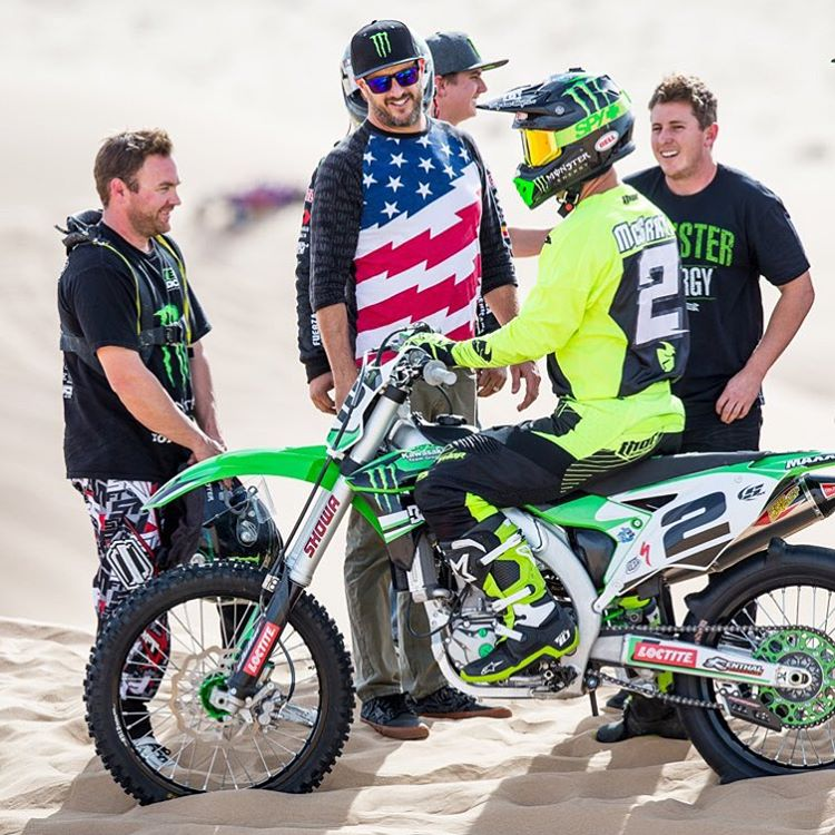 Just another solid day in the dunes today with some good peoples/fellow @MonsterEnergy athletes. A few seen here: @KyleLeduc99, @CaseyCurrie, and @JeremyMcGrath2. #Doonies2 #dirtsquad