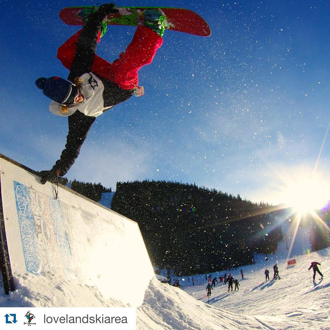 Give the gift of learning to someone you love for the holidays! Join us this weekend at @lovelandskiarea for some fresh snow & lots of community fun to be had at the 10th Annual Snowboard Camp Tour. For more info or to sign up, go to...