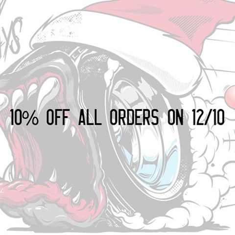 HNGN Holiday Countdown: Keeping the deals rollin'. All orders get 10% off and are entered to win some ultra exclusive prize.  #staytuned.