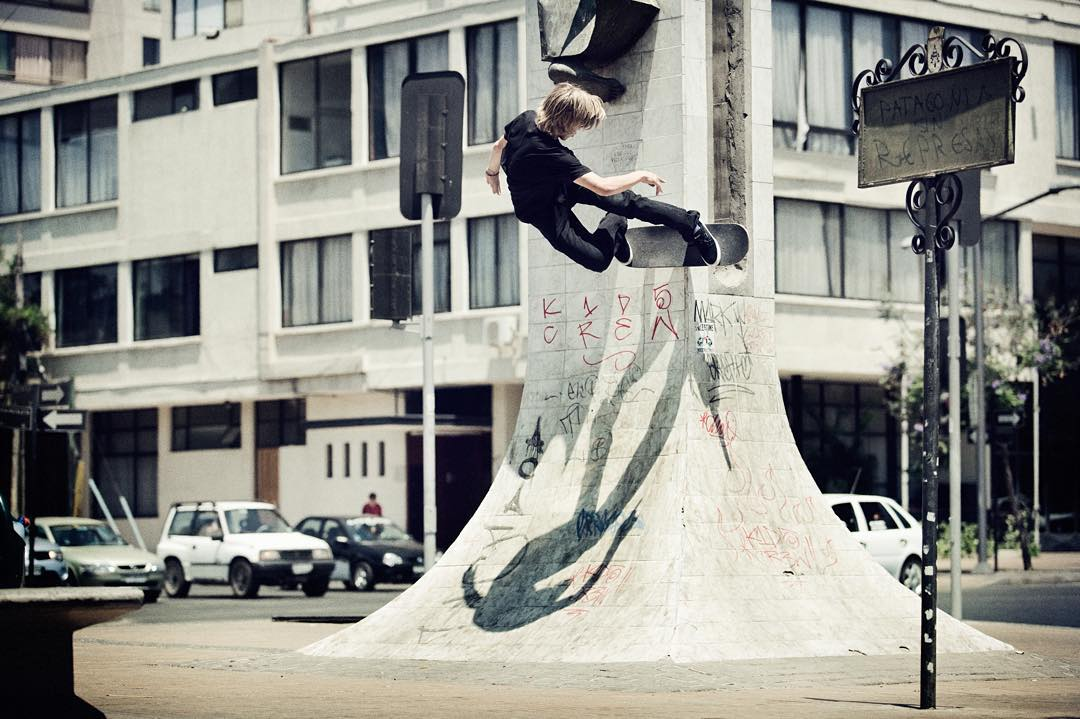 #tbt of @nick_garcia ripping a natural vert wall in the streets of chile >>>
