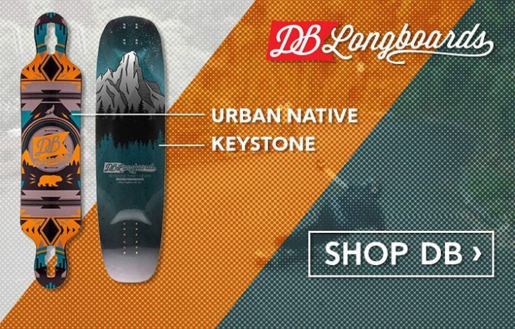 A little home page love from @daddiesboardshop featuring the Keystone and the Urban Native! Swing by daddiesboardshop.com for some holiday goodness! #dblongboards #dadsiesboarsshop #longboard