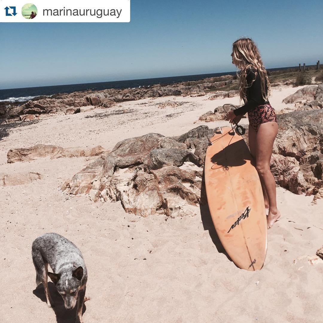 GO SURF! Marina Marre w/ Katwai's Surfsuit #surfer #surfsuit #sunprotection #katwai #summertime #uruguay