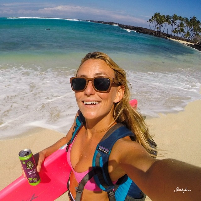 Excited to finally have a cruz beach day! @sambazon @patagonia @woodwearsun @odinasurf @gopro #selfie @lostsurfboards