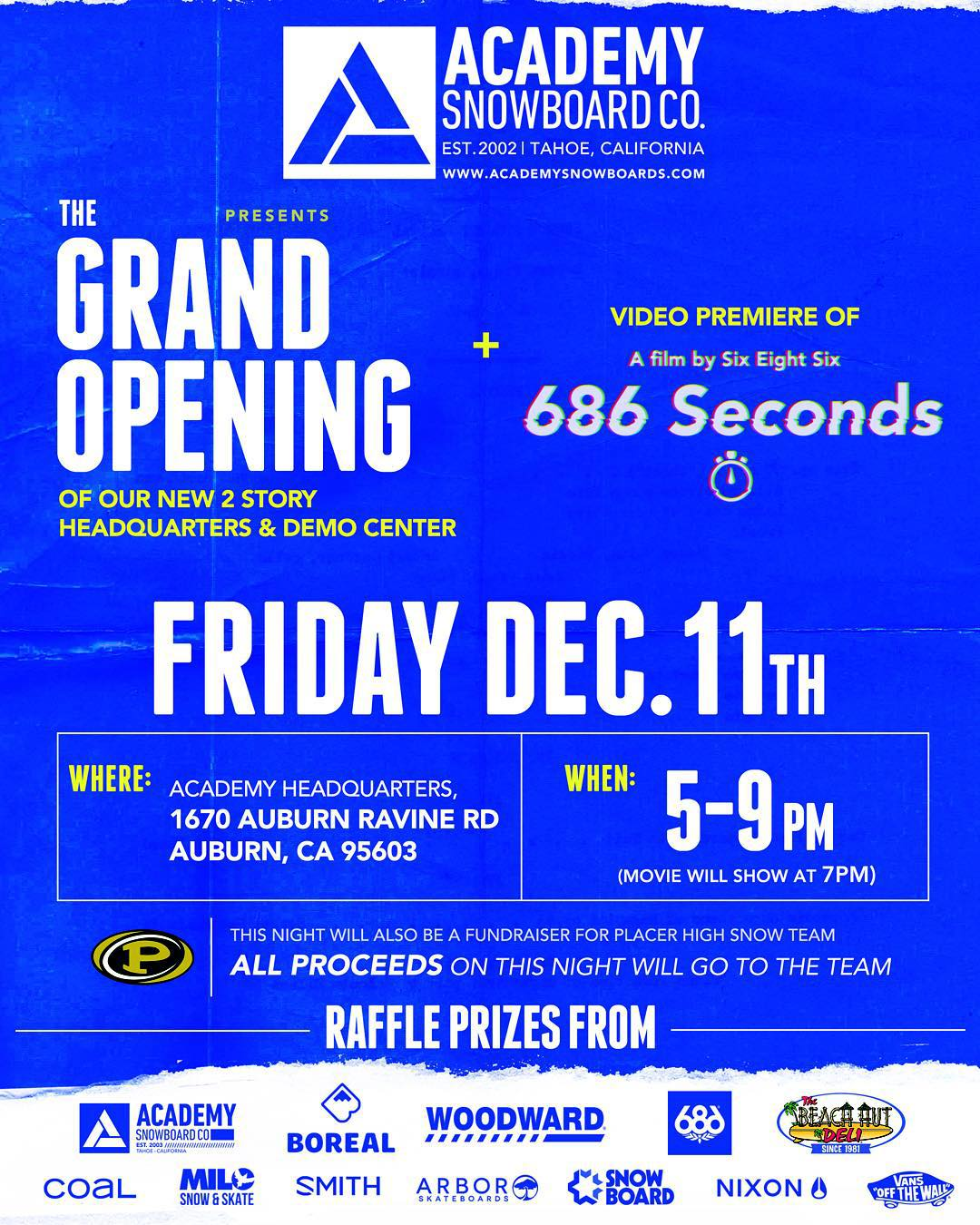 Get up to the new showroom today to check out the new @686 video and enjoy some good food, good drinks, and good times!! With prizes from all your favorite brands!! #supportlocal #goodpeople @beachhutdeliauburn80 @kneedeepbrewingco