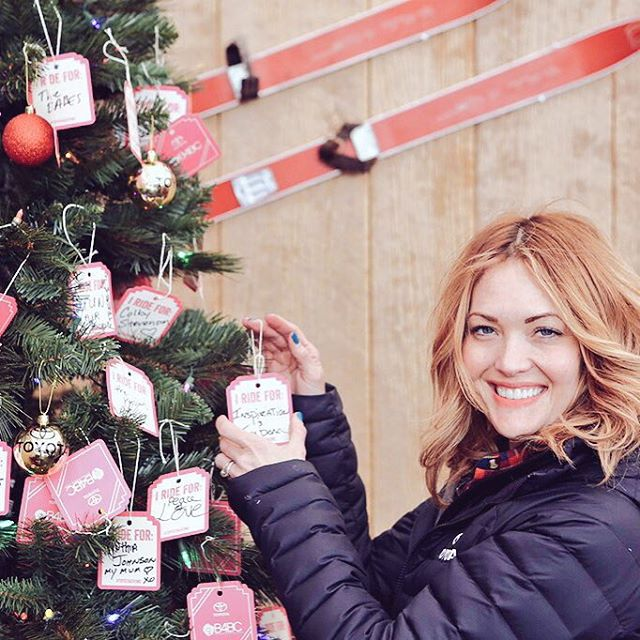 Who do you ride for? The B4BC x @ToyotaUSA #ToyotaGiving tree is getting some special attention from @AmyPurdyGurl this morning at @DewTour!  Share who you ride for and include #ToyotaGiving to support B4BC and stomp out breast cancer.  RT:...