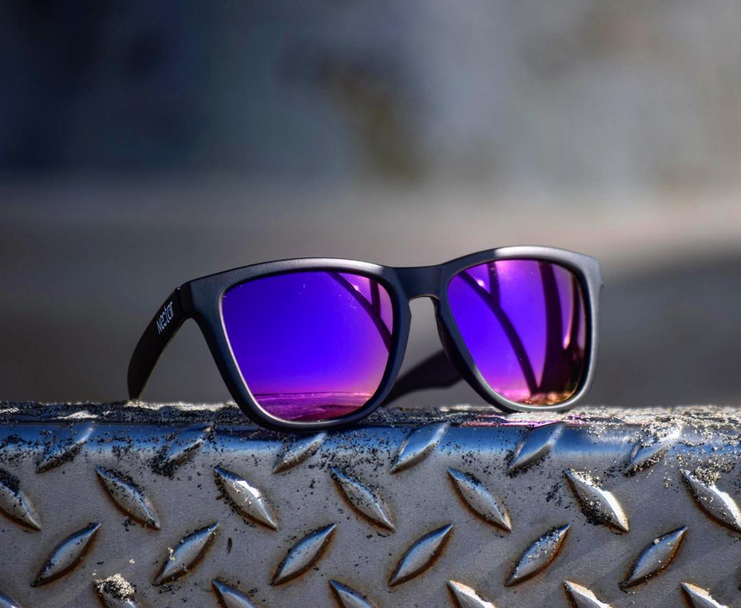 The best in the biz. Purp lenses with the epic. || #thesweetlife #nectarsunnies photo @jacobshots