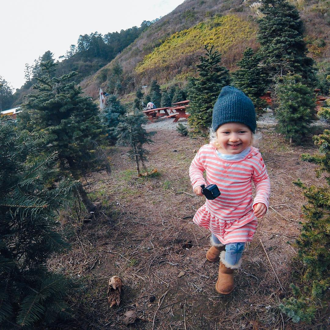 "GoPro Featured Photographer - @hoost11  About the Shot - #Christmas Tree Farm: Little Quinn loves the new #HERO4Session camera.  She actually gives it solid hugs frequently to the point that I just had to let her ""have"" one of mine.  Currently she is..."