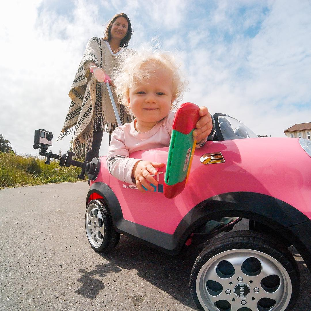 GoPro Featured Photographer - @hoost11  About the Shot - #GoPro #MiniCooper: I love having fun and messing around with new angles to shoot of my adorable 1 ½ year old daughter.  She really engages the camera making it that much more fun.  While I am...