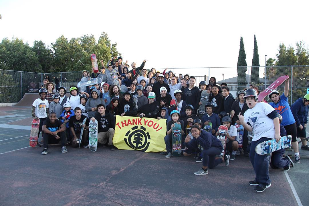 Epic times today at our @elementalawareness holiday giveback with the Le Conte Middle School skate program! We gave out boxes of boards, over 100 pairs of @newbalancenumeric shoes, and gave out a million high fives to the kids. Thanks to everyone who...